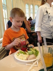 Allergy friendly meal at The Crystal Palace ~ photo taken by T.M. Brown