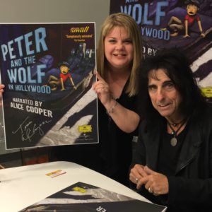 T meeting Alice Cooper ~ April 2016