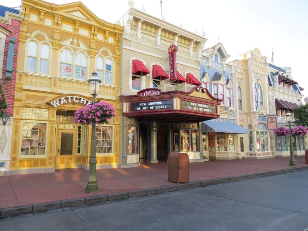Early morning on Main Street at Magic Kingdom ~ photo taken by T.M. Brown