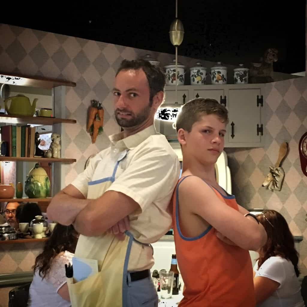 Christian and Aaryn at 50's Prime Time Cafe ~ photo taken by T.M. Brown