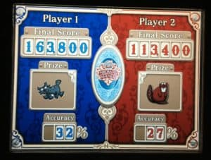Our Toy Story Midway Mania Score - Guess who won? ~ photo taken by T.M. Brown