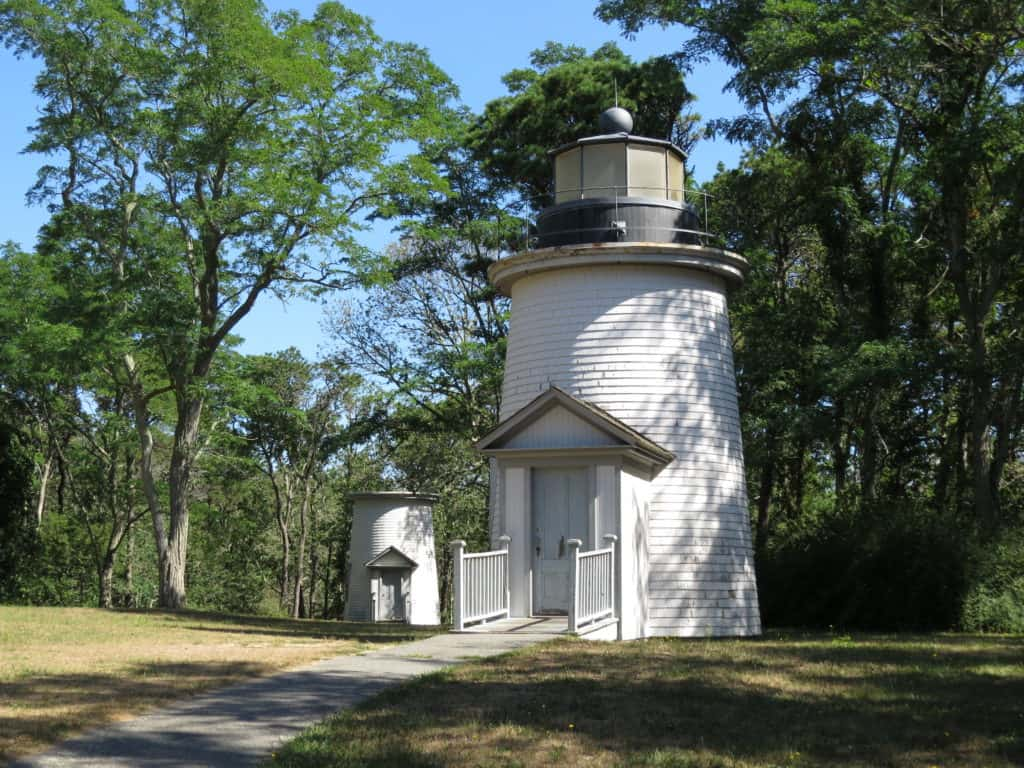 Two of Three Sisters lighthouses ~ photo taken by T.M. Brown