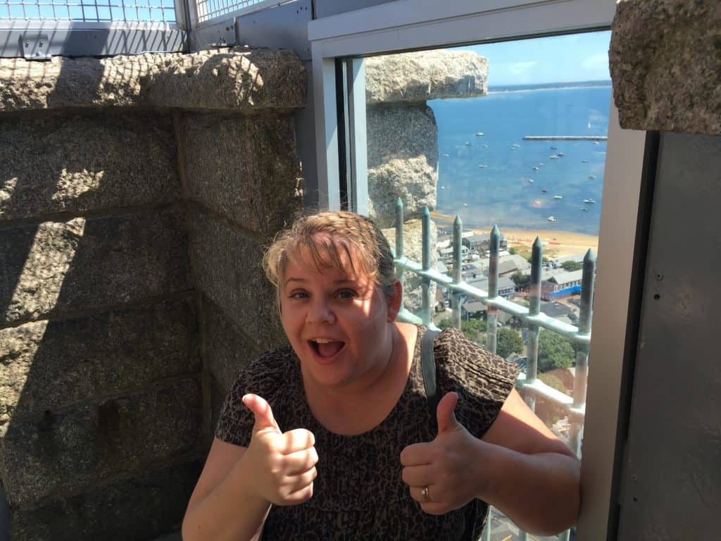 Top of Pilgrim Monument. I made it!!!! ~ photo taken by T.M. Brown