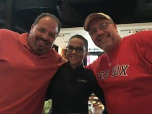 Our server, Danielle, with the boys ~ photo taken by T.M. Brown