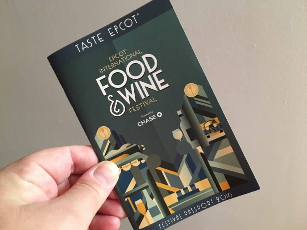 Epcot International Food & Wine Festival Guide Book ~ photo taken by T.M. Brown