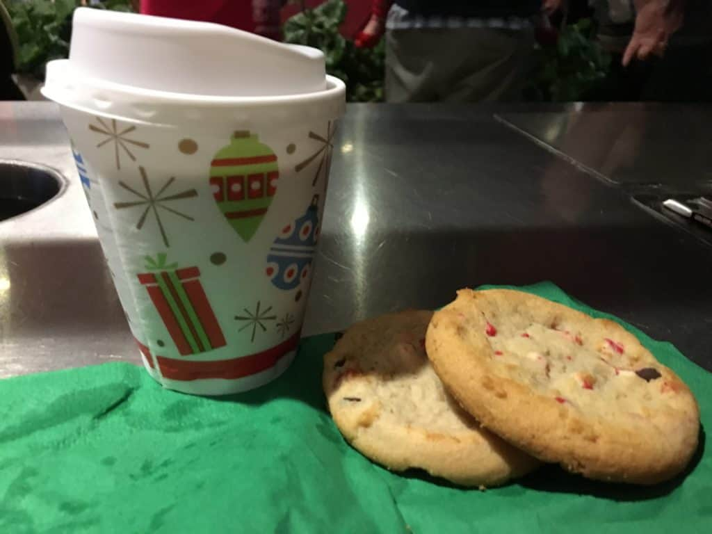 Hot cocoa and peppermint bark cookies ~ photo taken by T.M. Brown