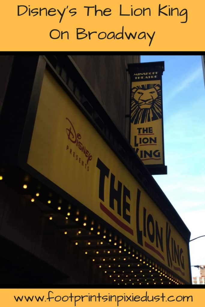 Disney's The Lion King on Broadway: Minskoff Theater ~ #DisneysLionKing #Broadway #NYC #NewYorkCity #Broadway #Theater #DisneyTheatricalProductions #Simba #TheLionKing #Musical #Entertainment