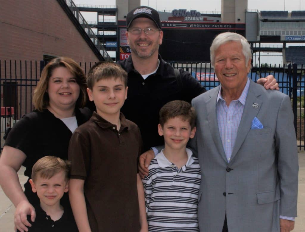 Our family with Robert Kraft, 2012