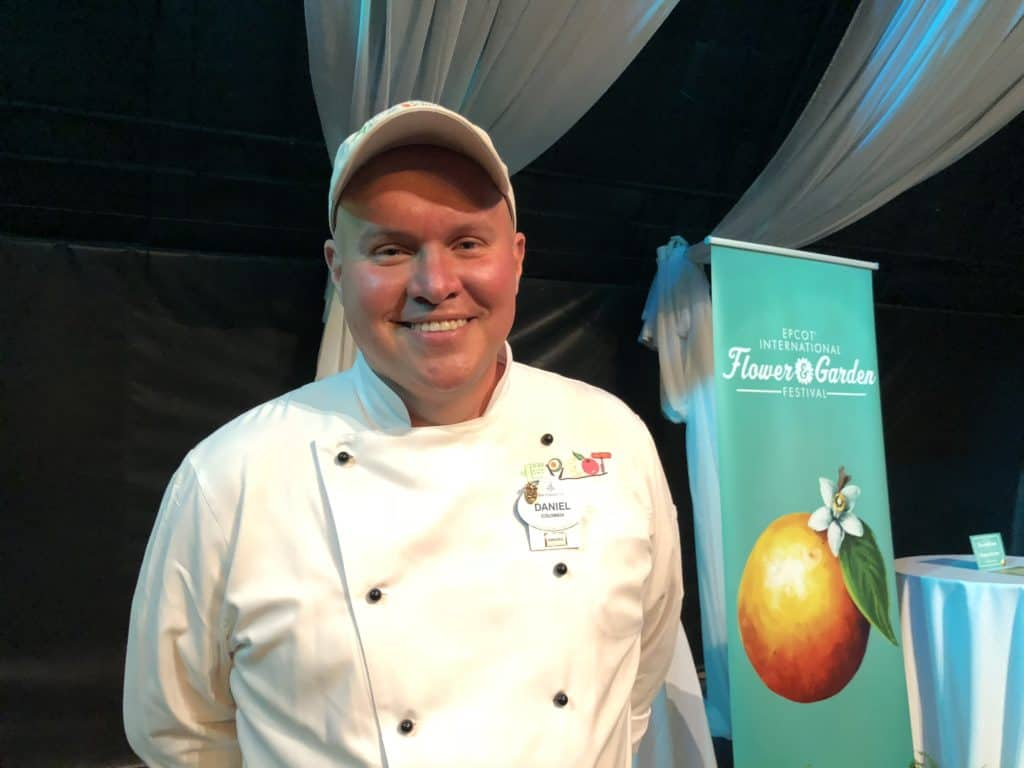 Disney Chef talking about food allergies