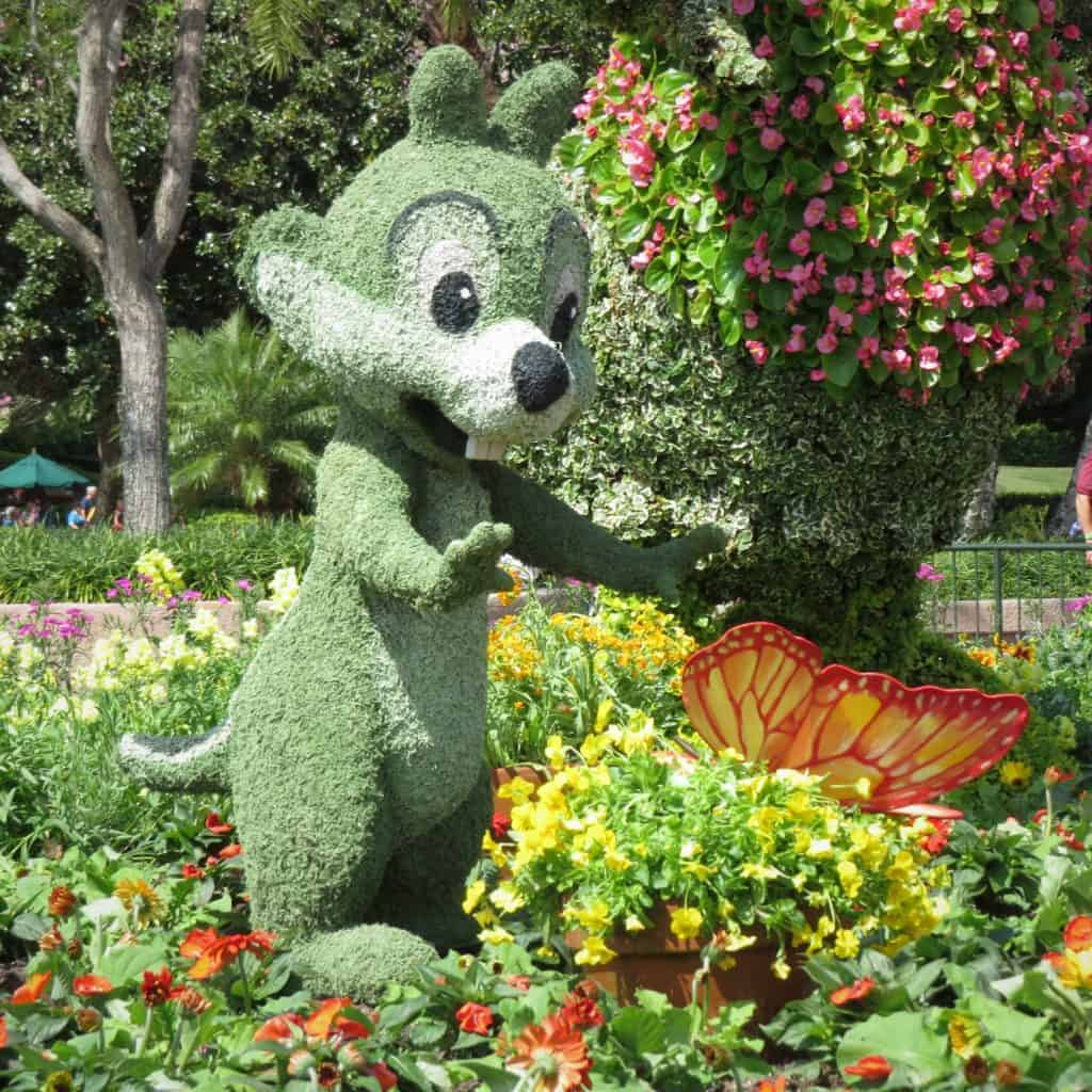 Disney topiary of Chip from Chip and Dale