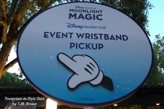 DVC Moonlight Magic Wristband Pickup sign