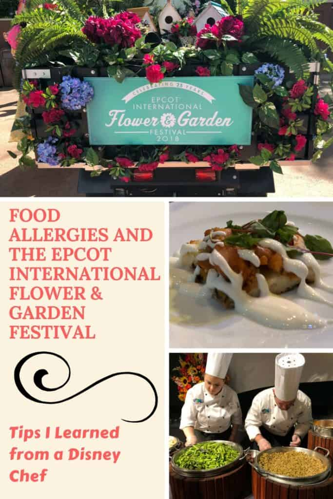 Managing food allergies at the outdoor kitchens during the Epcot International Flower & Garden Festival