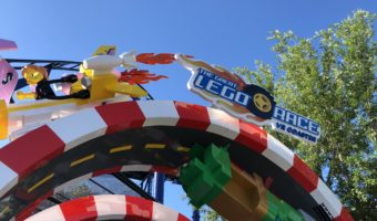 The sign at the entrance of The Great LEGO Race