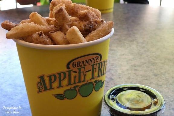 Apple Fries and caramel sauce at LEGOLAND Florida