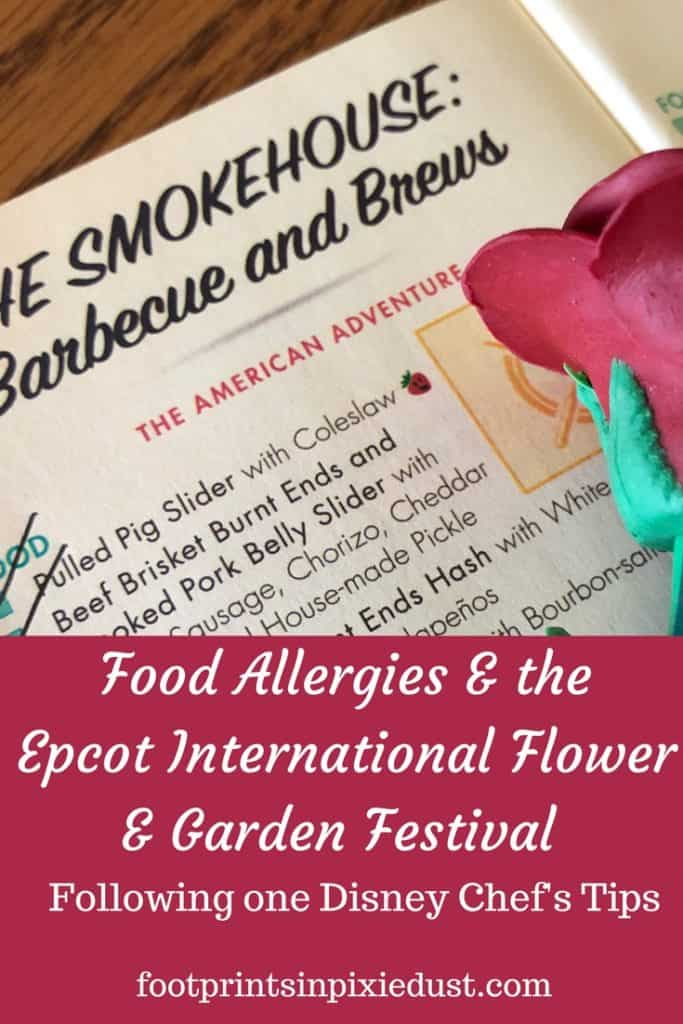 Food Allergies at Epcot International Flower & Garden Festival: Find out what happened when we put Disney Chef Daniel's tips into practice.