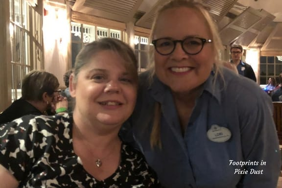 Posing with our Narcoossee's server, Cast Member Lori.
