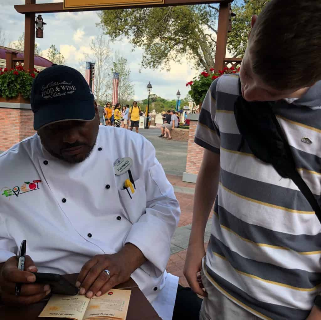 Disney Chef and young guest