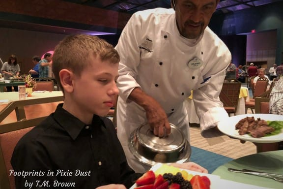 Allergy-safe Meal delivered at Disney Vacation Club's Mother's Day Brunch