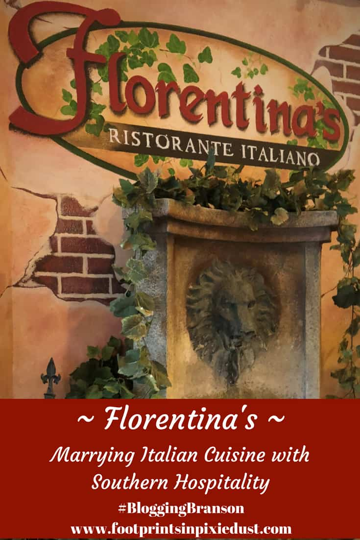 Florentina's Ristorante Italiano in Branson, Missouri: #BloggingBranson, #StoneCastlePartner #FlorentinasPasta #BBcousins #footprintsinBranson #exploreBranson #Branson #food #Italian #travel #foodie #travelblogger
