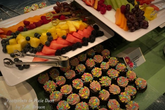 Fruit and Desserts at Disney Vacation Club's Mother's Day Brunch