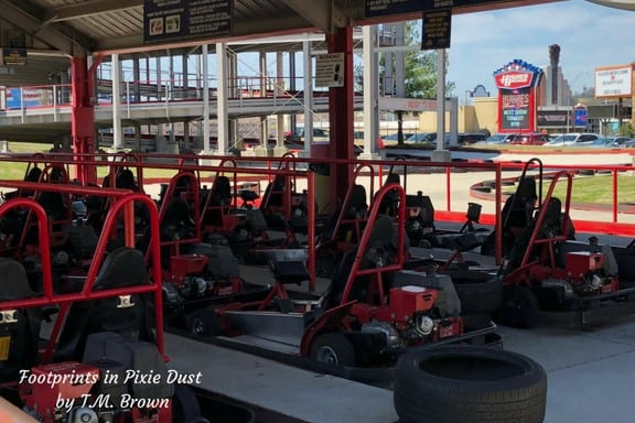 Go-karts at The Track Family Fun Park