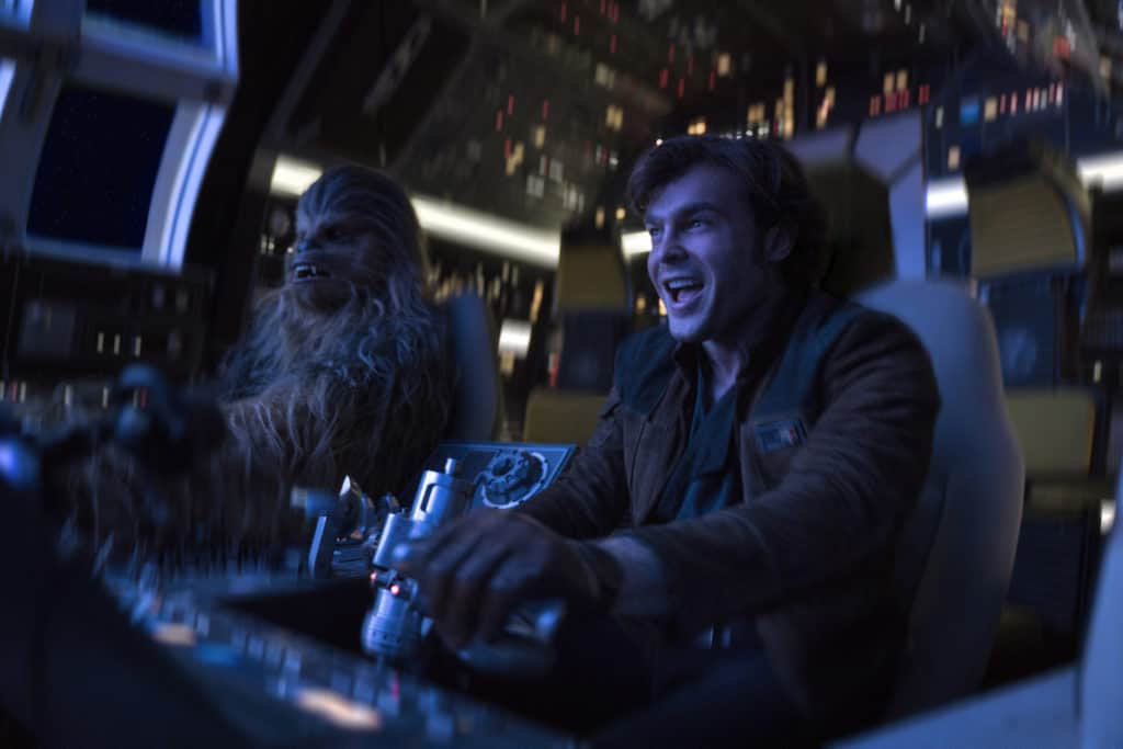 Han and Chewie aboard the Millenium Falcon