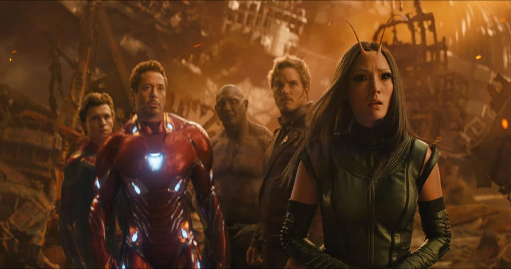 Collection of Avengers in AVENGERS: INFINITY WAR
