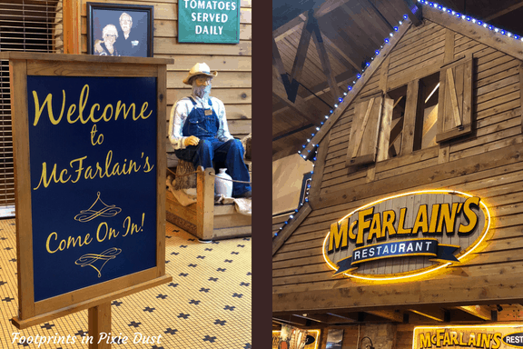 front and signage for McFarlain's restaurant