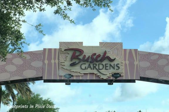 Entrance sign into Busch Gardens Tampa Bay