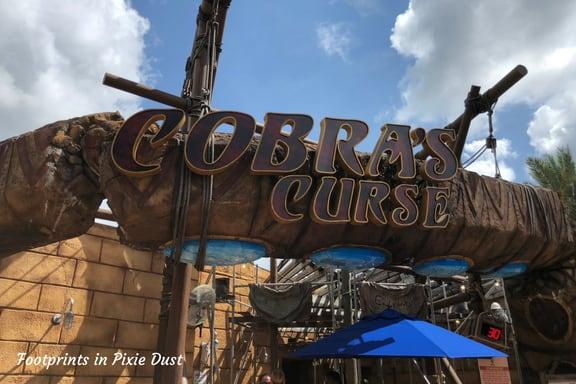 Entrance for Cobra's Curse roller coaster at Busch Gardens Tampa Bay