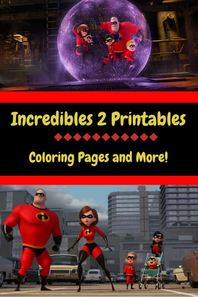 Incredibles 2 printables: #Incredibles2 #WaltDisneyPictures #incrediblesummer