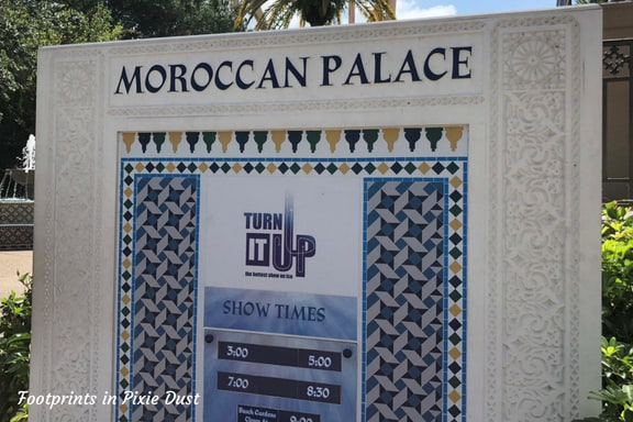 Moroccan Palace sign at Busch Gardens Tampa Bay