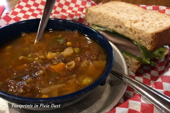 Soup and sandwich from McFarlain's Family Restaurant