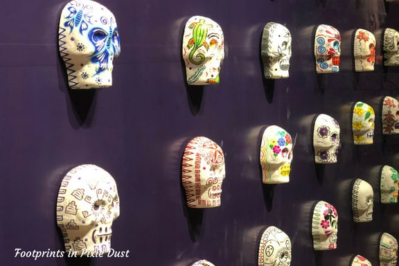 Wall of Sugar Skulls in Mexico Pavilion at Epcot
