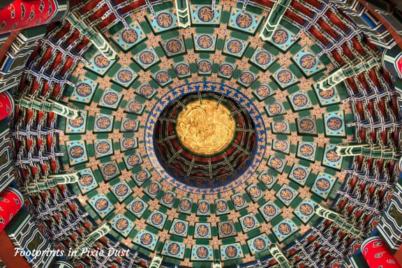 Inside Temple of Heaven at China Pavilion in Epcot