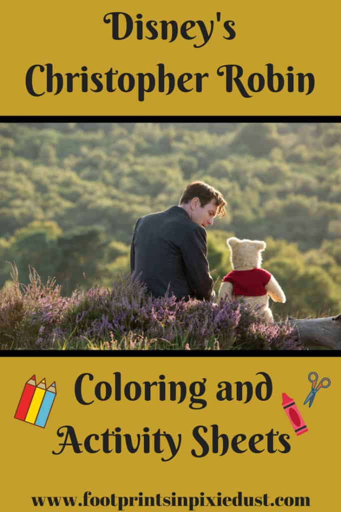 Disney's Christopher Robin activity and coloring sheets: #ChristopherRobin #Disney #WaltDisneyPictures #WinneThePooh #printables #coloringpages #coloring #activitysheets #crafts #fpipd