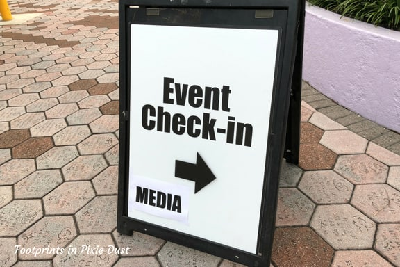 Event check-in signage