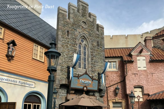 Entrance to Frozen Ever After attraction at Epcot