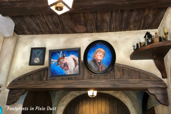 Inside the queue for Frozen Ever After attraction at Epcot