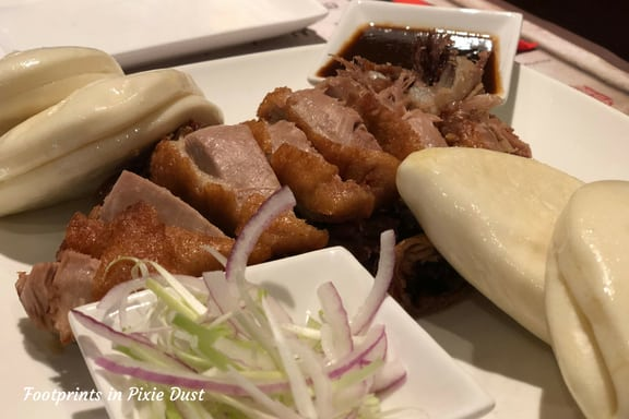Crispy Savory Duck plate at Nine Dragons in Epcot