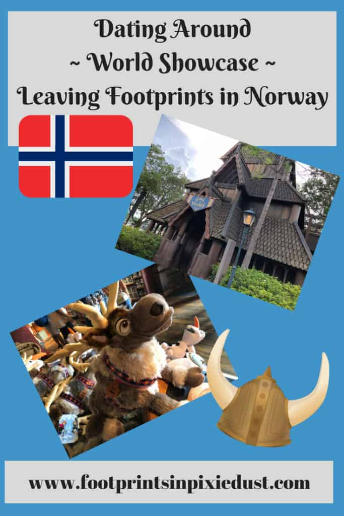 Dating Around World Showcase: Leaving Footprints in Norway ~ #datenightatDisney #fpipd #footprintsatEpcot #epcot #worldshowcase #disneycouple #disneydate #norway #frozeneverafter #stavechurch #trolls #travel #vacation