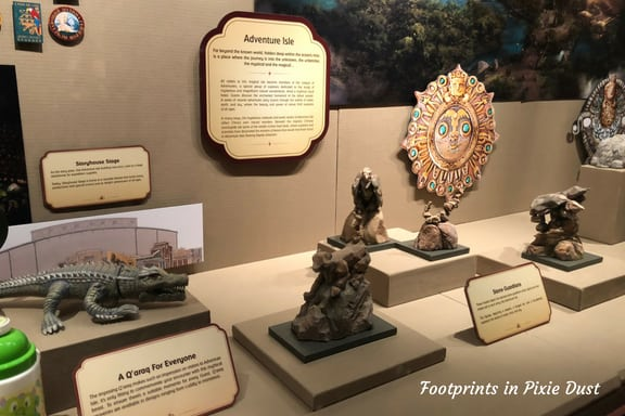 figures of items representing things seen at Shanghai Disneyland