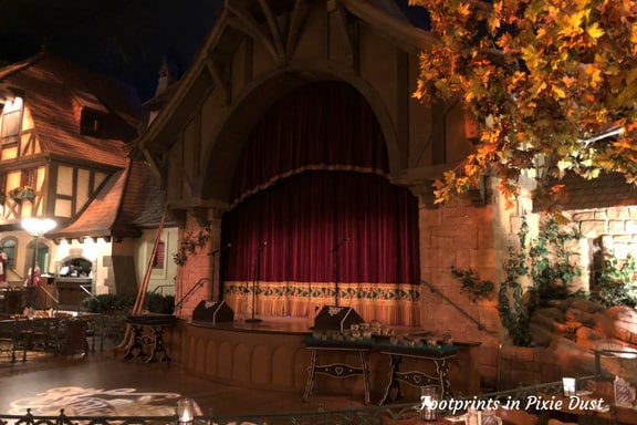 The Stage at Biergarten in Epcot ~ Photo credit: Tina M. Brown