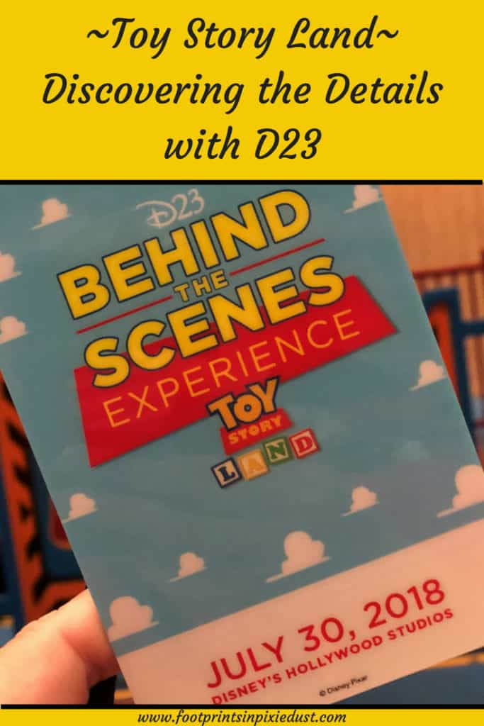 Toy Story Land: Discovering the Details with D23 ~ #ToyStoryLand #D23 #D23event #WDW #HollywoodStudios #disneylife #footprintsatdisney #behindthescenes