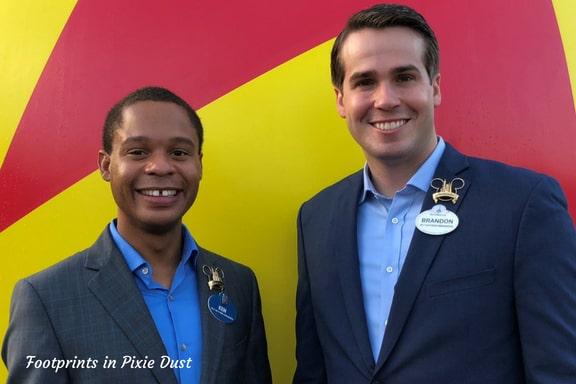 Walt Disney World Ambassadors, Ken and Brandon ~ Photo credit: Tina M. Brown