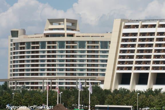 Bay Lake Tower and Disney's Contemporary Resort ~ Photo credit: Tina M. Brown