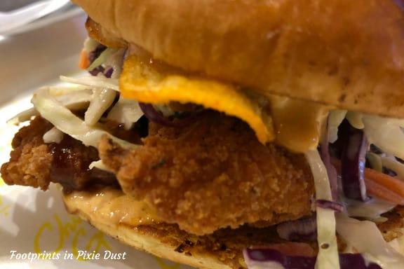 Bourbon Brown Sugar BBQ sandwich at Chicken Guy ~ Photo credit: Tina M. Brown