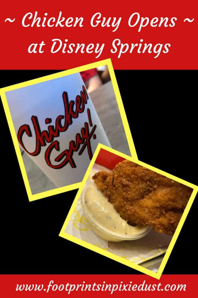Chicken Guy Opens at Disney Springs ~ #realchickenguy #guyfieri #flavortown #disneysprings #disneyfoodie #nowopen #food #yum #chicken #WDW #waltdisneyworld #orlando