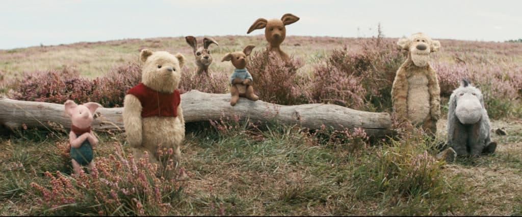 Piglet, Pooh, Rabbit, Roo, Kanga, Tigger and Eeyore in Disney's live-action adventure CHRISTOPHER ROBIN ~ Photo courtesy of Walt Disney Studios