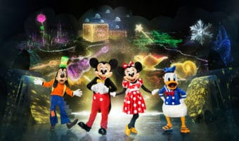 Goofy, Mickey Mouse, Minnie Mouse, Donald Duck from Disney on Ice: Mickey's Search Party Photo credit: Feld Entertainment